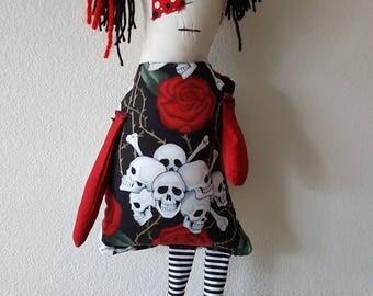Stuffed Monster Zombie Rag Doll Bianca