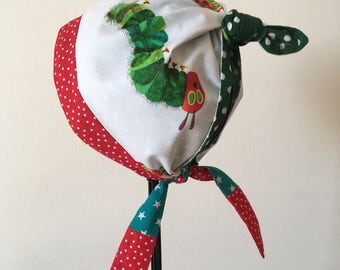 Little Girl Boy REVERSIBLE Kerchief Summer Hat Bandana Headband Headscarf bib Garden Scarf Head Wrap