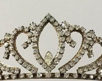 Vintage Tiara ~ Rhinestone Tiara ~ Wedding Tiara