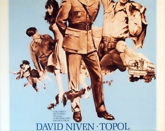 "Before Winter Comes. Original 1969 US 27""x41"" Theater Movie Poster. FREE SHIPPING. David Niven,Topol,Anna Karina,John Hurt,Anthony Quayle."
