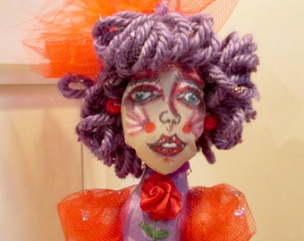 Betty Baker, one of a kind cloth doll