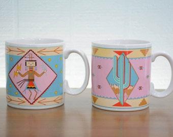 1980's Southwestern Mugs by Vandor by Pelzman Designs