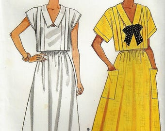 Vintage 1986 Butterick Sewing Pattern #3746 Fast and Easy Sizes 8-10-12