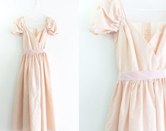 Vintage 1950s Style Pale Pink Prom Dress Light Pink Ball Gown Vintage Prom Dress Vintage Princess Dress Princess Peach Costume Peach
