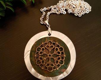 Verdigris Copper Necklace Pendant