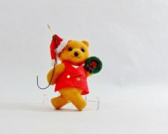 1960s, Christmas, Christmas Decoration, Christmas Gifts, Vintage Christmas, Christmas Ideas, Old Christmas, Felt Animals, Felt Bear, Xmas