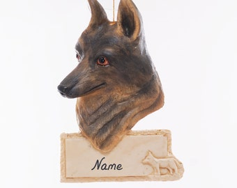 German Shepherd Personalized Christmas Ornament - personalized free with your choice of name, phrase and or year - made in the USA (181)