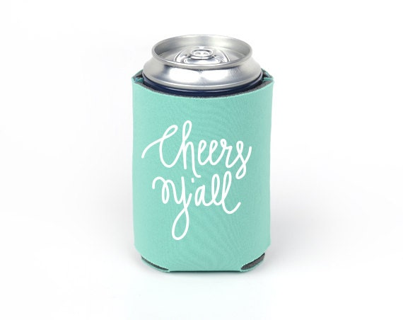 Green Styrofoam Coolers ~ Cheers y all can cooler party foam emerald green