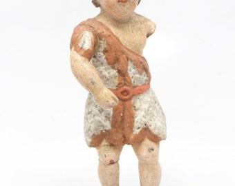1800's Baby Jesus, Antique Nino Santos Hand Carved for Christmas Putz or Nativity