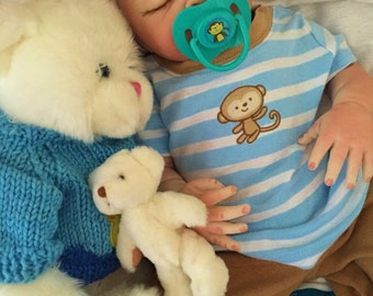 Reborn Baby Boy Doll Completed From the Londyn Kit  20 inch Baby Lane with Magnetic Pacifier