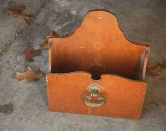 Vintage Mail Holder, Mail, Hanging Mail Organizers, Home Decor, Entry, Kitchen, Hard Wood, Homemade