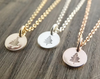 Silver Tree Necklace Evergreen Tree Necklace Tree Pendant Sterling Silver Pine Necklace Winter Tree Winter Tree Necklace Rose Gold Necklace