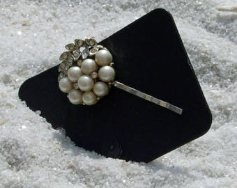 Hair Pins, Wedding Bobby Pin, Vintage Earrings, Vintage Bobby Pin, Beaded Hair Pin, Pearl Bobby Pin, Rhinestone Bobby Pin, Hair Accessories