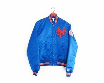 vintage jacket / New York Mets / Starter jacket / LL Cool J / 1980s New York Mets satin Starter jacket Medium