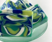 teacher's pet - apple sage - Handcrafted Vegan Soap, Cold Process Soap, Handmade Soap, EvieSoap, shea butter soap