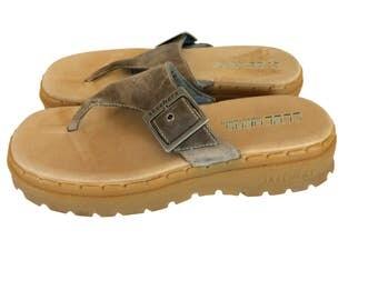 Vintage Brown Sandal 90s Platform 90s Sandal 90s Skechers Shoe Chunky Shoe Summer Shoe Summer Sandal Thong Sandal Women Sandal 1990s