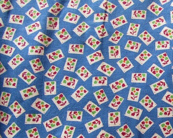 RESERVED FOR RETROA -- vintage floral geometric print feed sack fabric