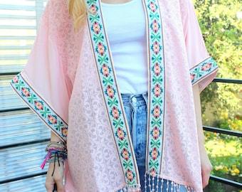 Kimono ethnique hippie chic