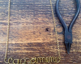 Personalized Necklace, Wire Name Necklace, Personalized Name Jewelry, Custom Wire Name