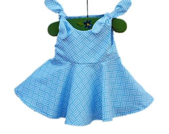 Bekko Tatami Dress - Michael Millers - Light Sky Blue - Comtemporary Style - Spring Outfit - Baby Wearing - Baby Cotton - Custom Made USA