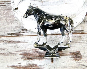 Vintage Horse Trophy Topper Supplies Hard Plastic Chippy Paint Western Equestrian Awards