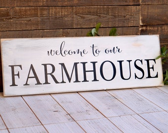RUSTIC DISTRESSED Welcome to our Farmhouse Sign