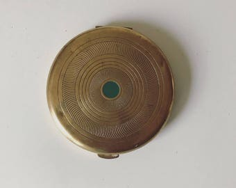 Vintage Brass Coty Compact