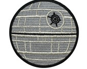 Death Star Imperial Space Station Iron-On Patch DIY Star Wars Fan Craft Applique