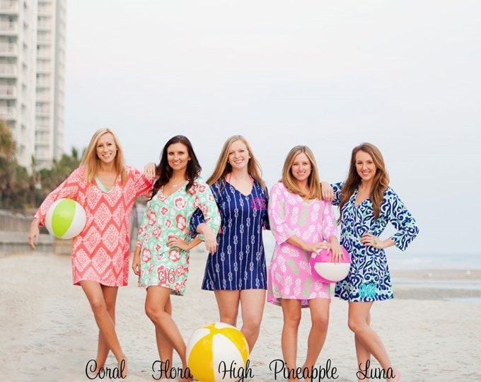 Monogrammed Swimsuit Coverup, Beach Coverup, Monogram Coverup, Swimsuit Coverup, Bridesmaid Gifts, Monogrammed Gifts, Group Discounts