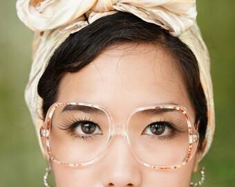 Vintage Eyeglass 1970's Oversize By Henri De Paris Multi Color Frame Made In France New Old Stock