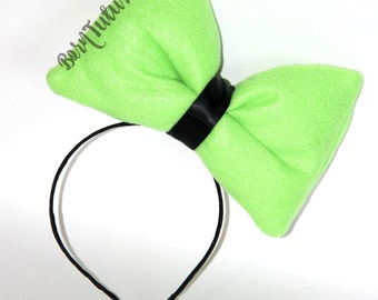 Goofy Bow // Big Green Bow // Big Bow Headband // by Born TuTu Rock