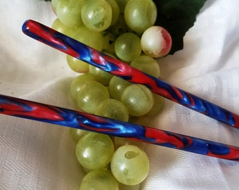 Superman acrylic hair stick available in 5 thru 7 inch lengths  (choose 1 or more)