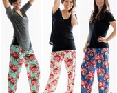 Floral Pajama Pants,Bridesmaid Gift,Bridesmaid Proposal,Bridesmaid Pajamas,Bridesmaid Robe,Bridal Shower,Wedding Shower Gift,Bachlorette