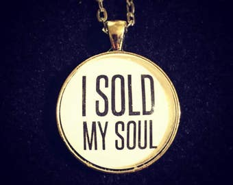 Bookish necklace: I sold my soul - Faust, Goethe