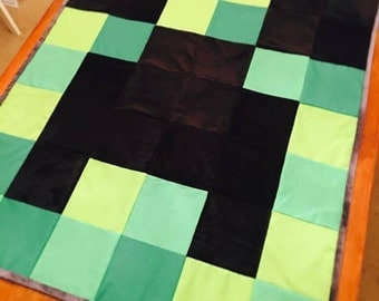 Minecraft Creeper Throw Blanket