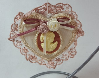 Victorian Heart Christmas Tree Ornament