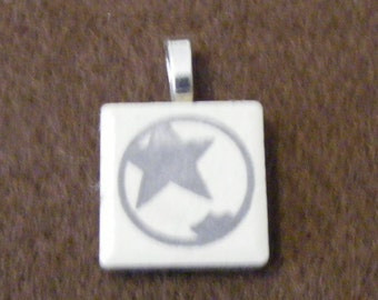 KISS Starchild - Laser engraved Ceramic Tile Pendant
