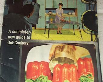 KNOX ON-CAMERA Recipes Cookbook Gelatin Gel Booklet Aqua Turquoise Mid-Century 1960 Kitchen