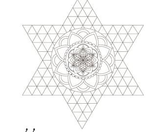 Star Of David Mandala Passover Coloring Page 1 Printable Design Jewish