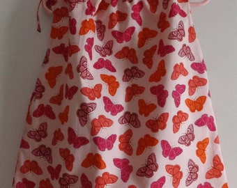 Lined Floral Toddler Dress or Tunic in Starling Studio by Valori Wells Fabric Butterflies Size 2T to 4T Pillowcase Look