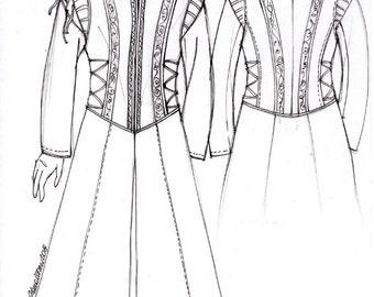 MADE TO ORDER Long Coat, Hoode coat, Renaissance, Larp, Reenactment, coat, men's larp clothing, women's larp clothing