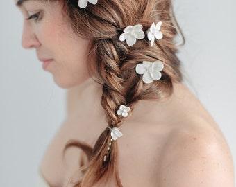 Bridal Hair Pins- Bridal Flower Hair Pin Set, Wedding Hair, Abigail Grace Bridal