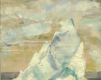 Iceberg Salmon Sky- Original Acrylic Painting