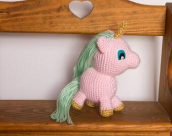 Unicorn Stuffed Animal - Pink Unicorn Plush - Crochet Unicorn