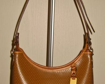 Authentic Vintage Dooney & Bourke ...T651...Tan Cabrio Leather,Sm. Hobo Shoulder Handbag/Purse