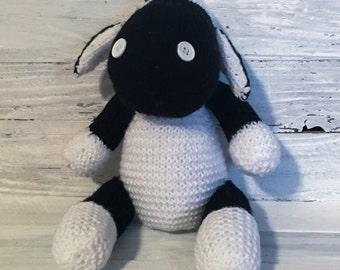 Sheep - Black Sheep - Baa - Animal - Stuffed - Stuffed Animal - Wool - Farm - Hillside