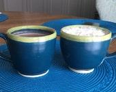 Mugs, Ceramic Mugs, Pottery Mugs, Blue Mugs, Mug, Ceramic Mug, Pottery Mug, Blue Mug, Christmas Gift Idea, Handmade Gift, Coffee, Tea