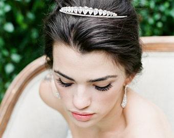 Wedding Tiara Crystal Tiara - LAURYN Petite Swarovski Bridal Tiara Diamond Wedding Crown Rhinestone Tiara Wedding Tiara Small Tiara CZ Crown