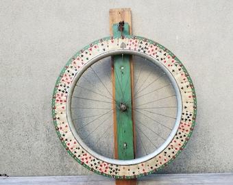 """Antique Carnival Fair Midway Gambling Wheel Folk Art Large 31"""""""