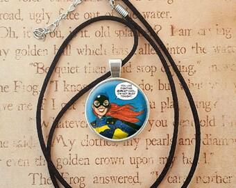 Batgirl Comic Necklace Keyring